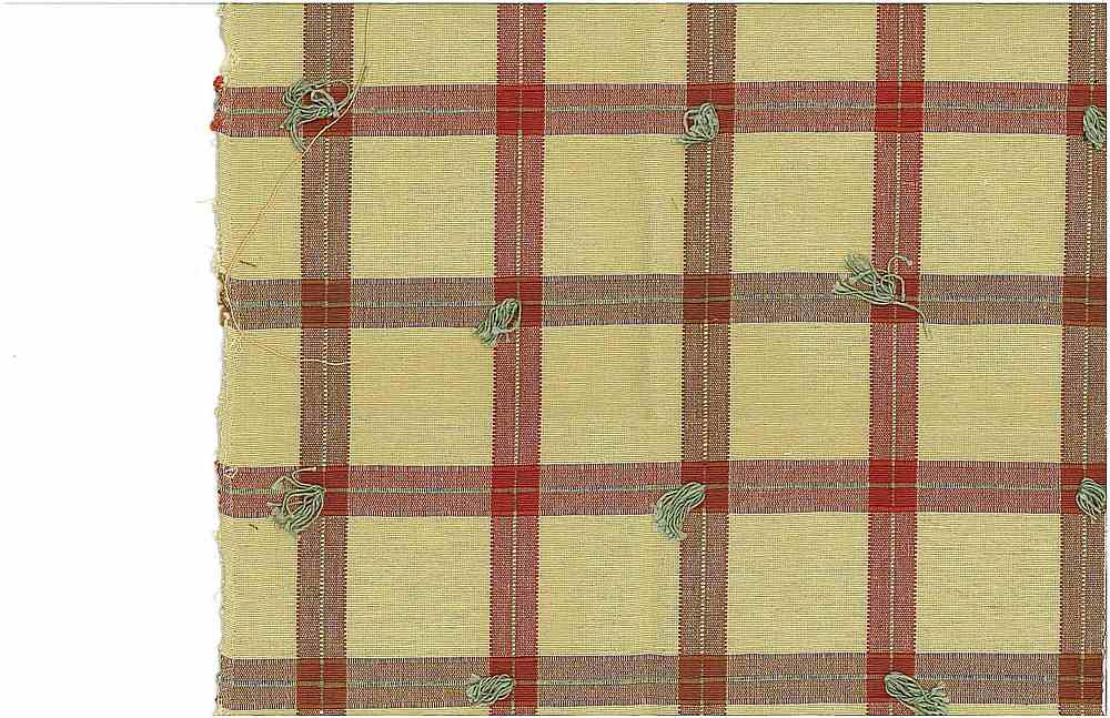 3173/2 / TUFTED CHECK / CREAM/RED/BRN