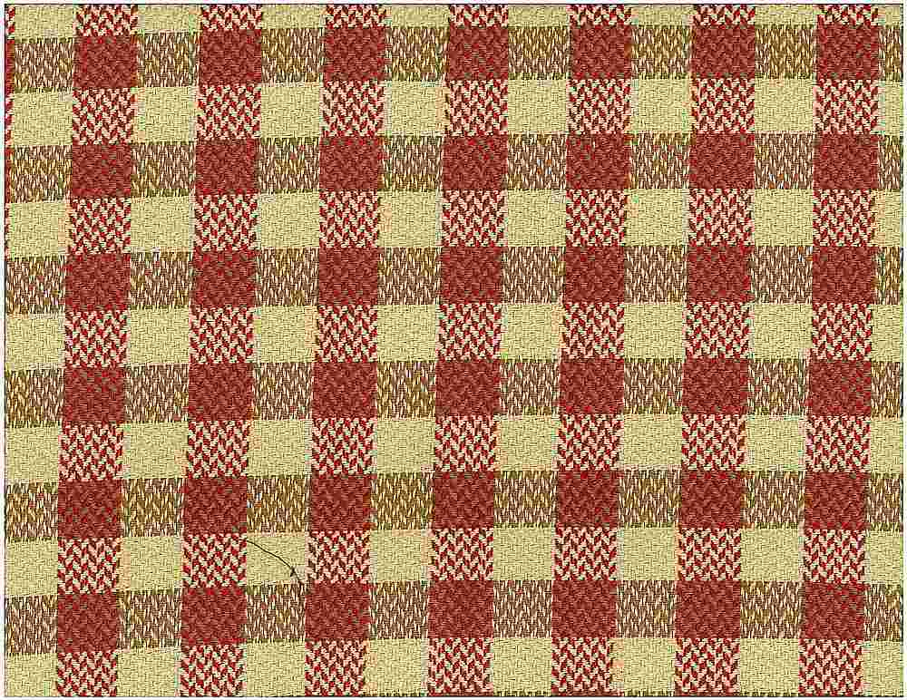 3175/2 / BROKEN TWILL CHECK / SAND/RED