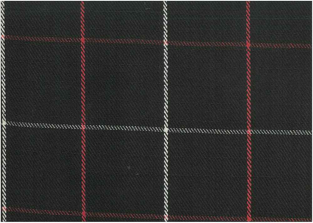 <h2>1159/1</h2> / LINEAR PLAID / BLK/RED/WHITE