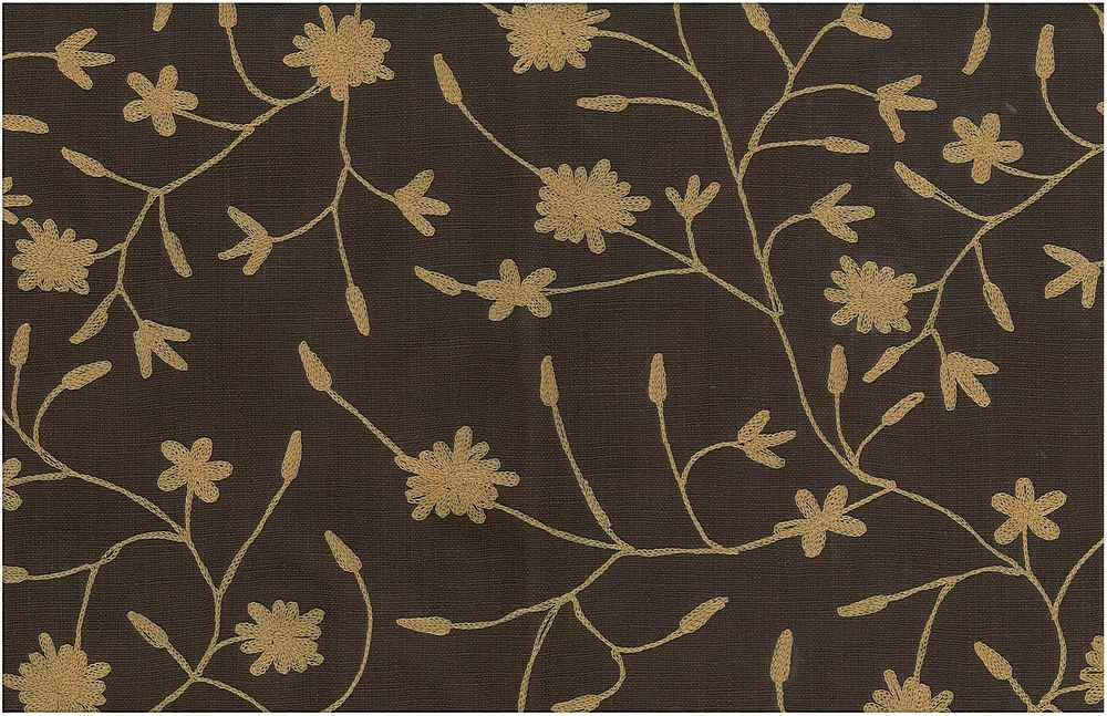 7124/1 / DUCHESS VINE EMBROIDERED HOMESPUN- / SADDLE ON CHOC