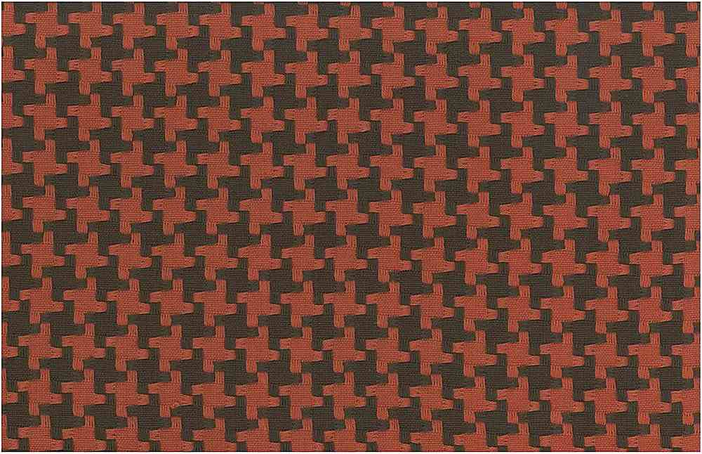 <h2>1113/5</h2> / BIG HOUNDSTOOTH / CHOCOLATE/CLAY