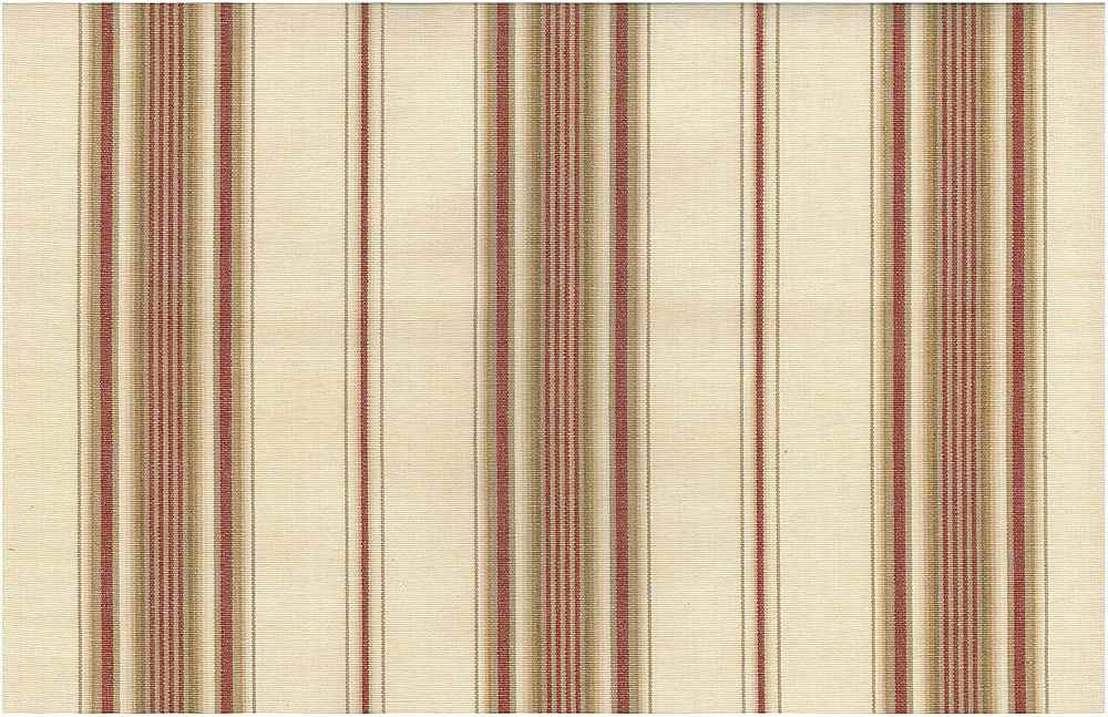 2223/1 / SARATOGA STRIPE / NAT/RED/TAN