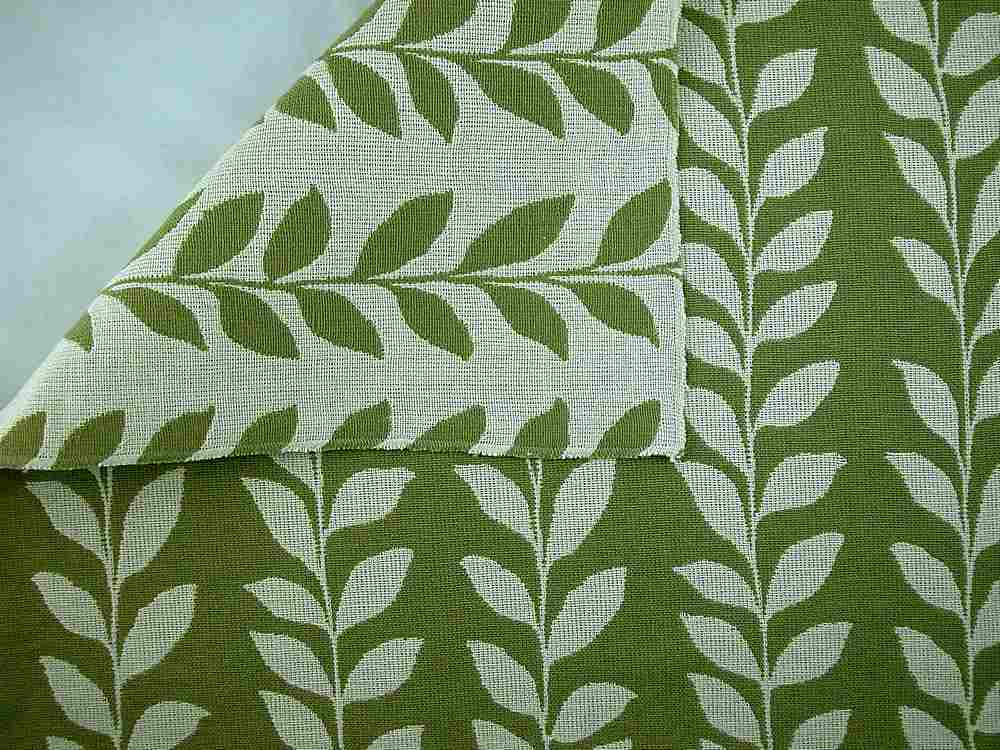 <h2>1132/2</h2> / LEAF DOUBLECLOTH / GREEN/NATURAL