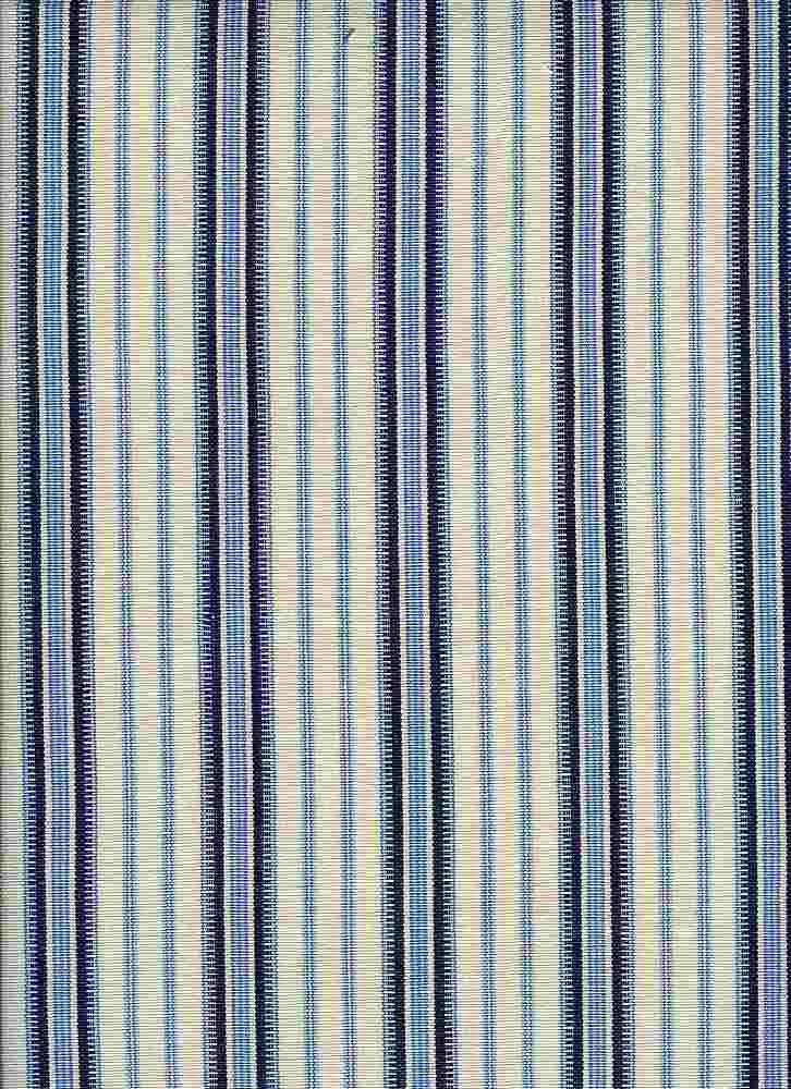 2068/2 / MOROCCAN STRIPE / WHITE/BLUE