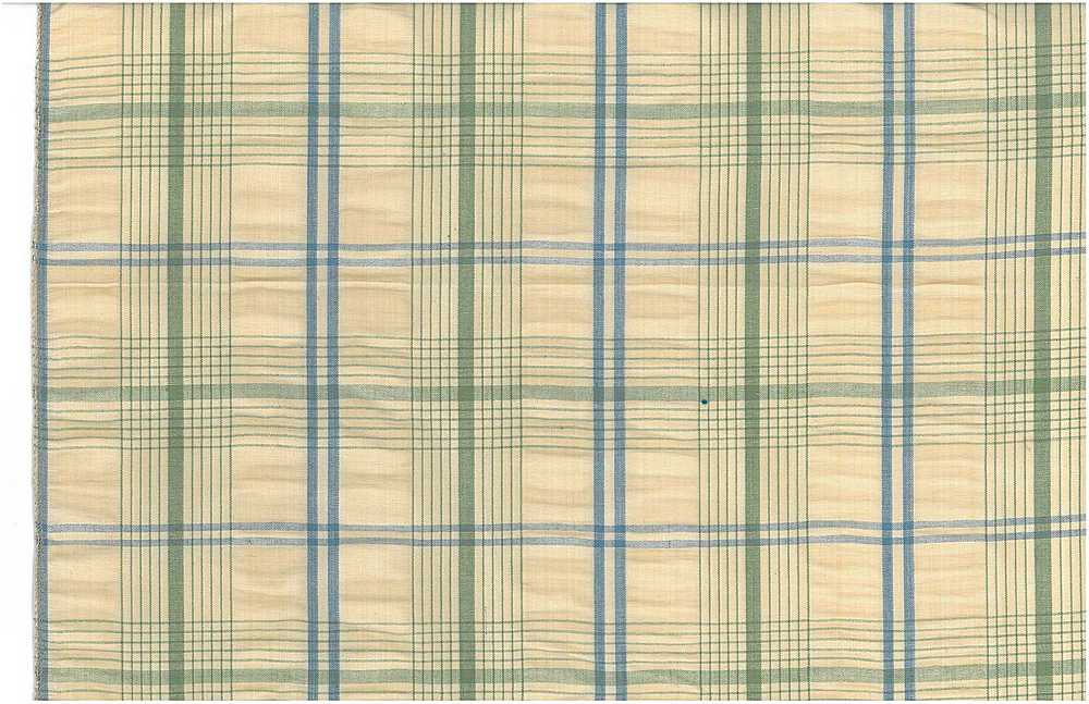 <h2>3180/3</h2> / HAMPTON SEERSUCKER / GREEN/BLUE