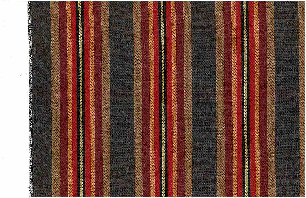 2253/1 / NAVARRO STRIPE / CHARCOAL RED