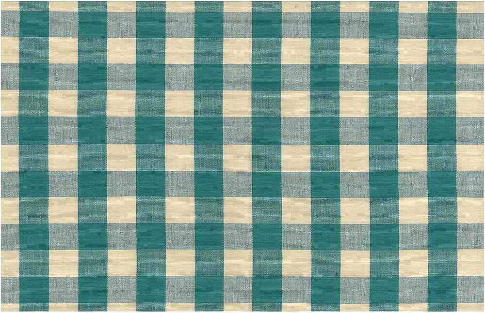 <h2>3007/4</h2> / ONE INCH CHECK / TURQUOISE