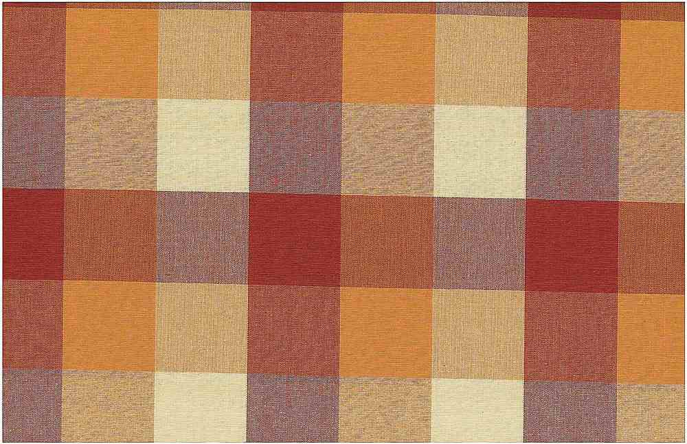 <h2>3181/4</h2> / FOURSQUARE PLAID / RUST/ORANGE