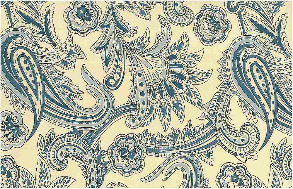 <h2>0966/1</h2> / FRENCH PAISLEY PRINT / RIVIERA