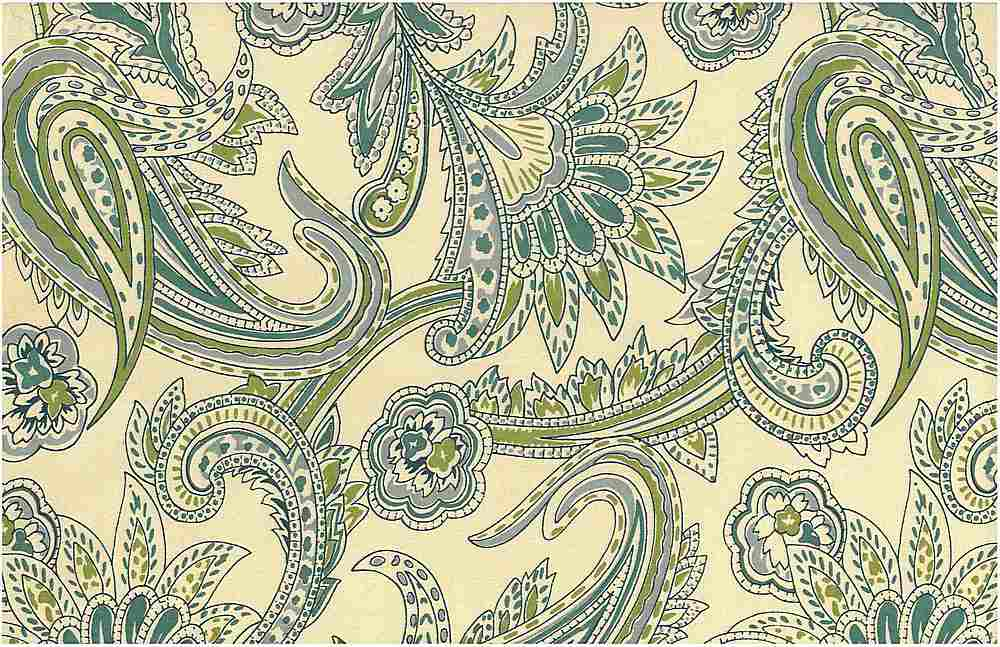 0966/2 / FRENCH PAISLEY PRINT / AQUASEAS
