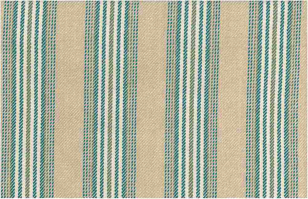 2274/2 / CHESHIRE STRIPE / SAND/TEAL