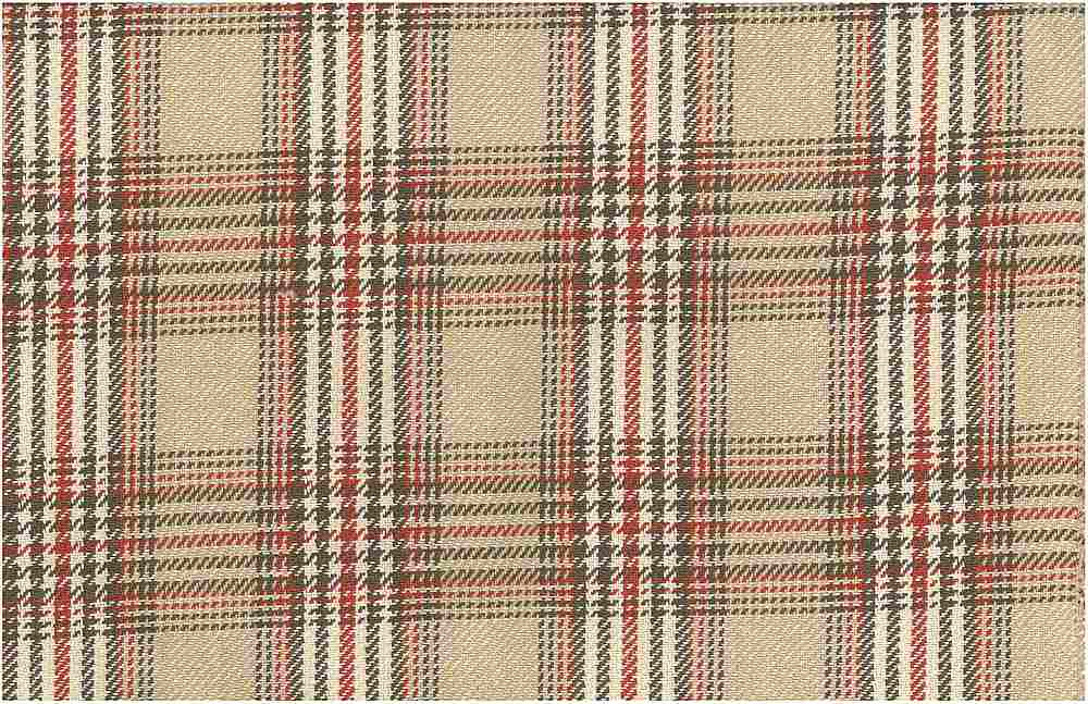 <h2>3184/2</h2> / CHESHIRE PLAID / SAND/RED