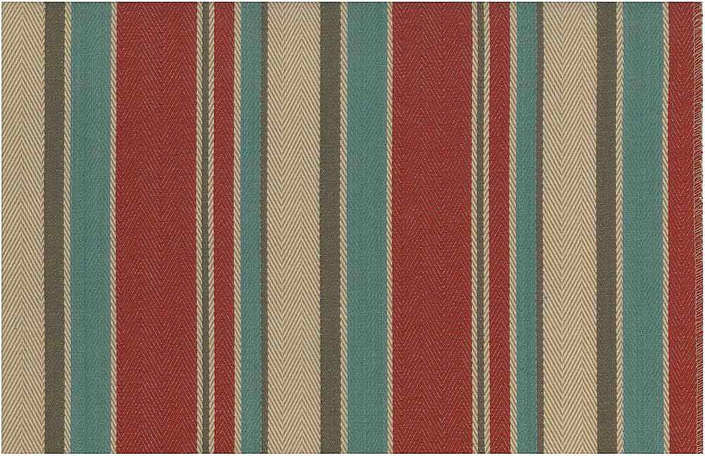 2275/2 / MALIBU STRIPE TWILL / RED TURQ MULTI