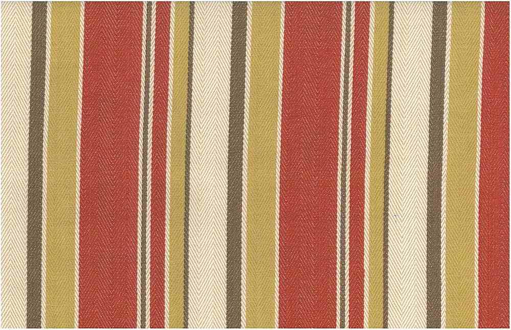 2275/3 / MALIBU STRIPE TWILL / RED HAY MULTI