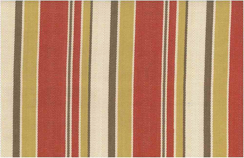2275/3 / MALIBU STRIPE TWILL / RED HAY MULTI