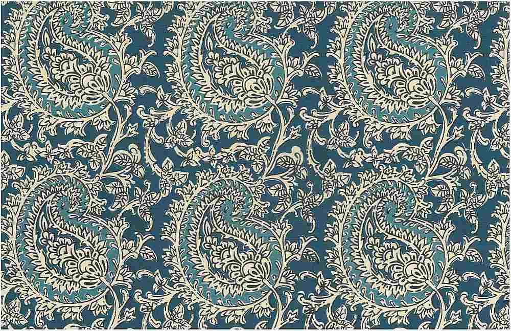 0971/1 / MANGO PAISLEY PRINT / TILE BLUES