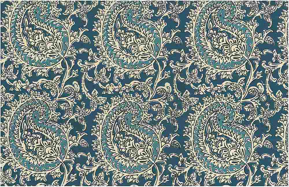 0971/1 / MANGO PAISLEY PRINT / TILE BLUES