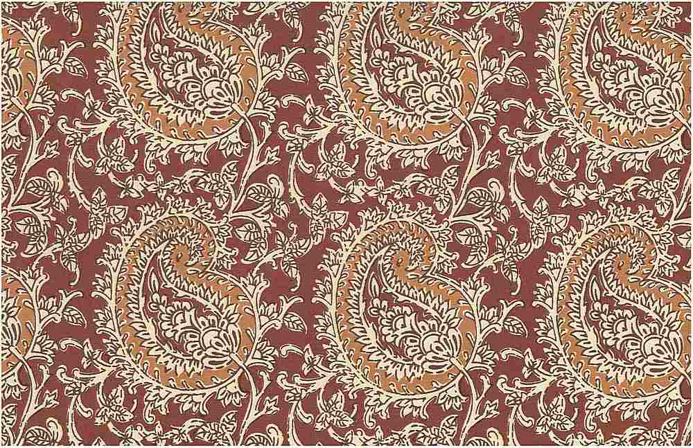 0971/4 / MANGO PAISLEY PRINT  / MINERAL RED/GINGER