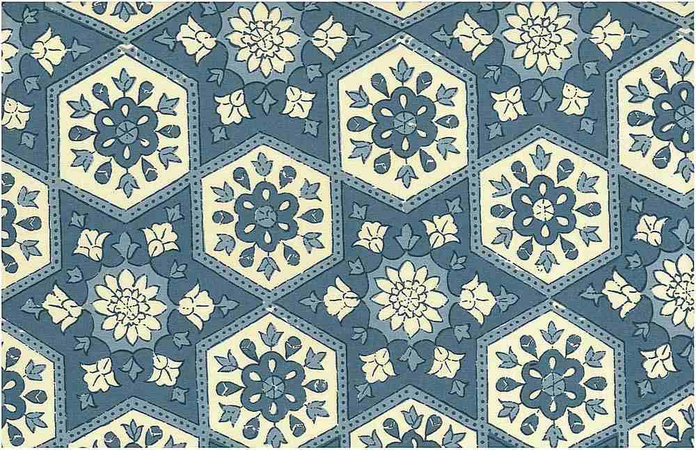 <h2>0980/1</h2> / ANATOLIA PRINT / POTTERY BLUES