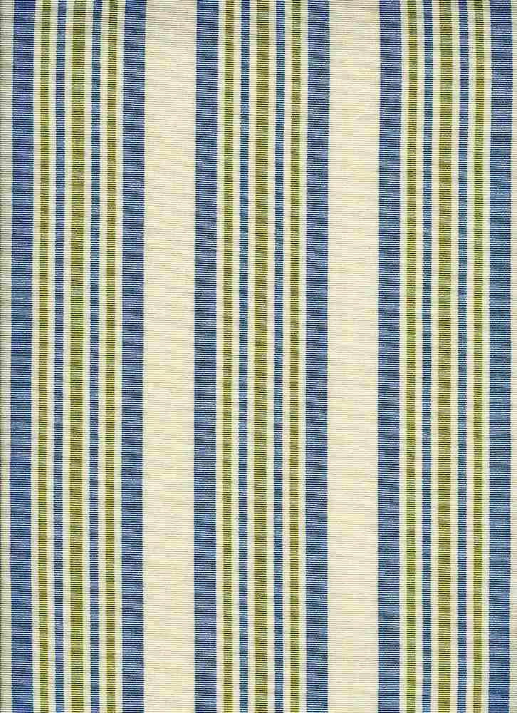 2281/1 / KENSINGTON STRIPE / BLUE GREEN