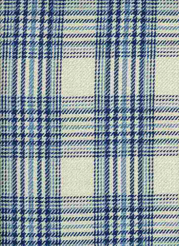 <h2>3184/4</h2> / CHESHIRE PLAID / NAT/BLUES