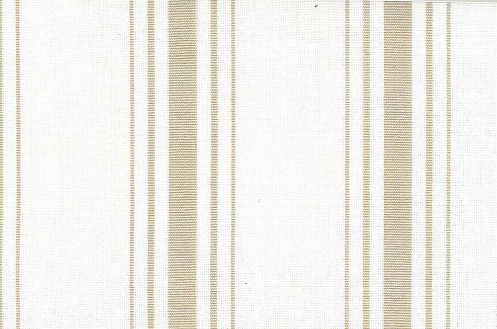 <h2>2270/5</h2> / HARBOR STRIPE/PRESHRUNK / TAN ON WHITE