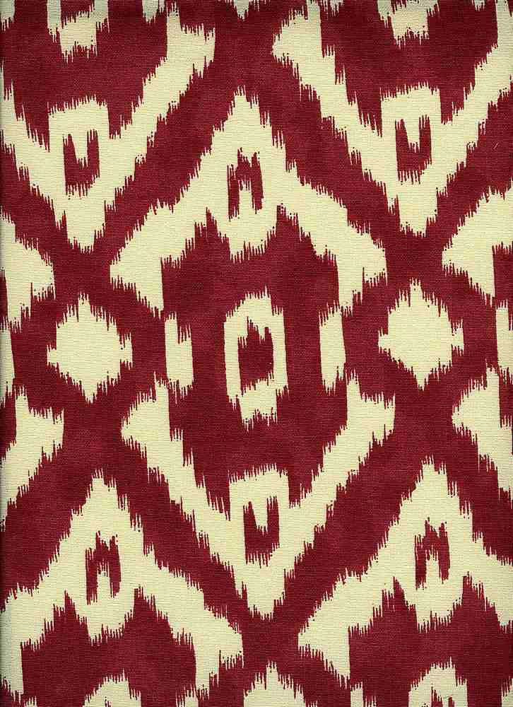 0990/2 / NEW CARAVAN IKAT PRINT / BERRY