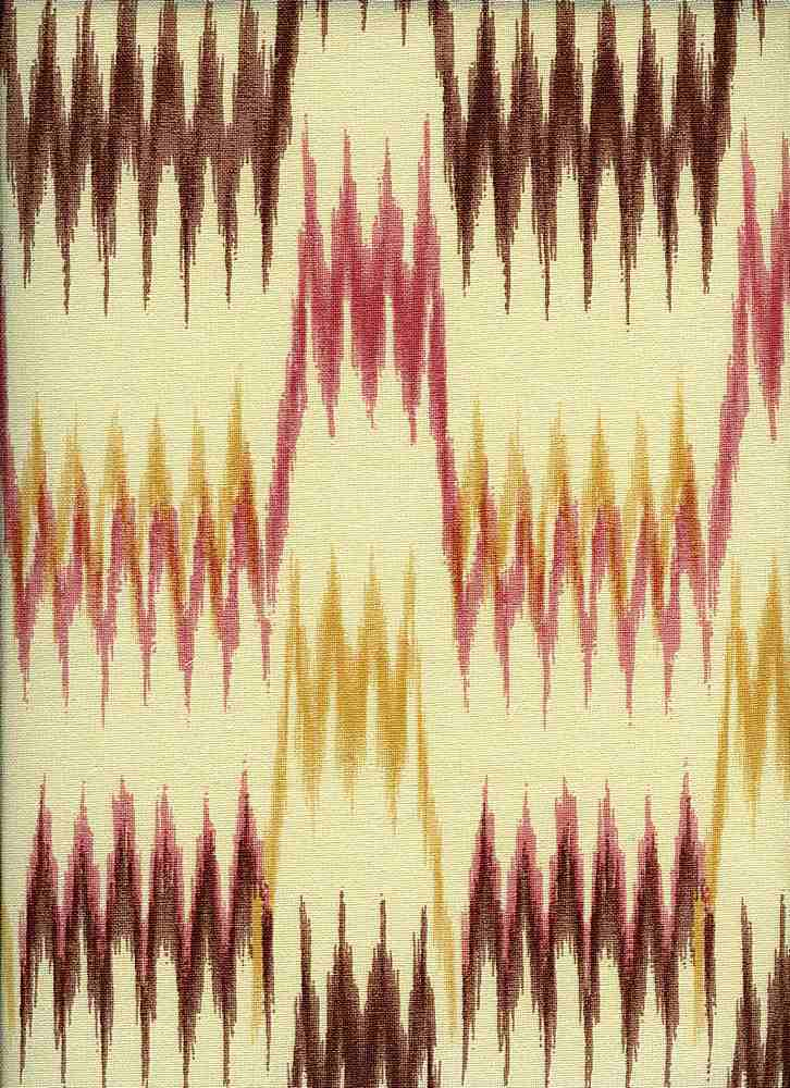 0991/2 / NEW SPIRE IKAT PRINT / RED/GOLD