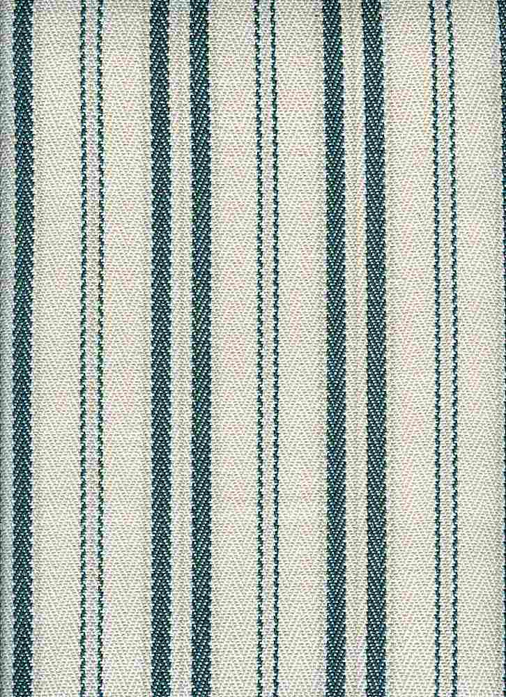 <h2>2299/3</h2> / TWILL TICKING / TEAL/WHITE