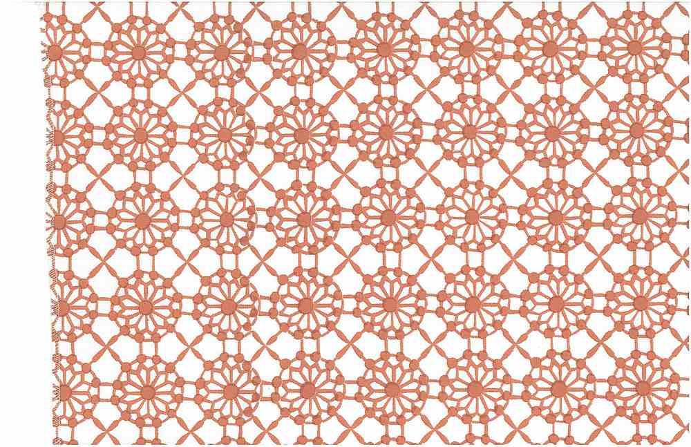 0901/3 / MAHAL PRINT / CORAL/WHITE
