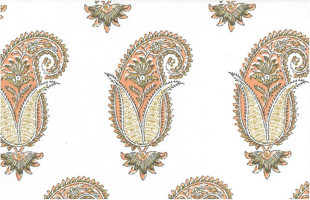0996/2 / ANTIQUE PAISLEY PRINT / BLUSH/WHITE