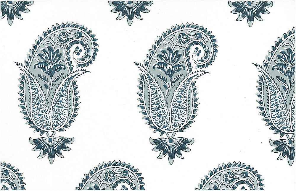 <h2>0996/3</h2> / ANTIQUE PAISLEY PRINT / WEDGEWOOD/WHITE