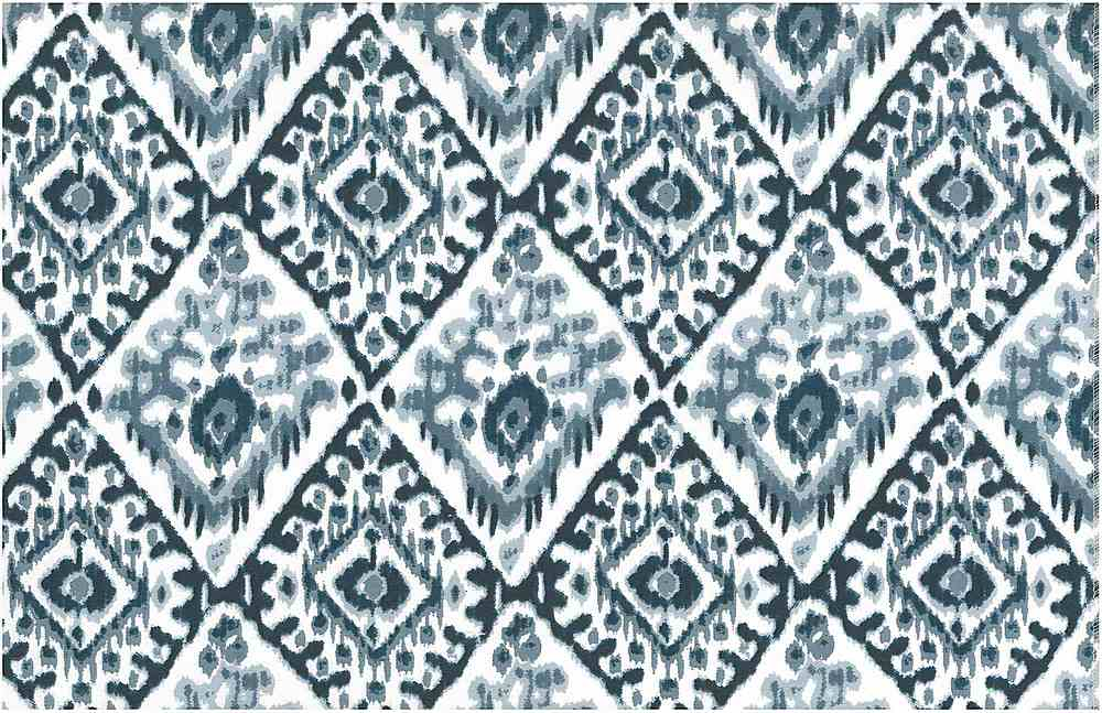 0997/3 / TASHKENT IKAT PRINT / CHINA BLUES/WHITE