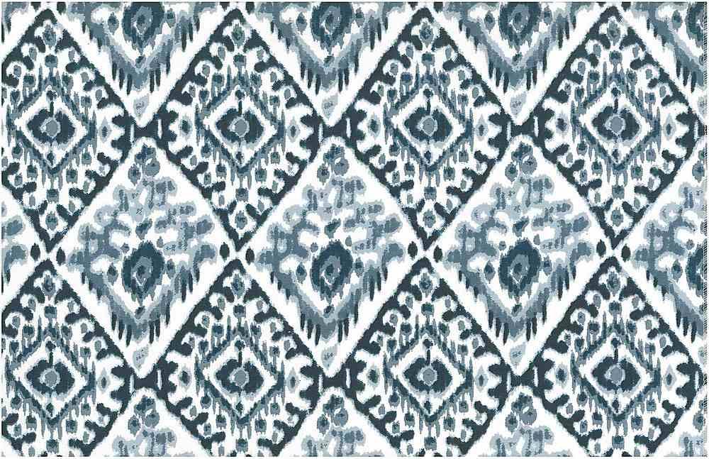 0997/3 / TASHKENT IKAT PRINT / CHINA BLUES/WHITE