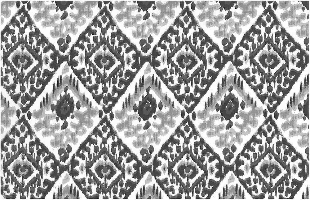 0997/4 / TASHKENT IKAT PRINT / SHADOW/WHITE