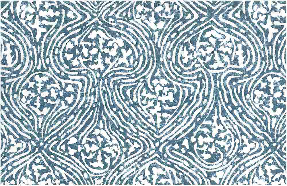 0999/1 / TABRIZ PRINT / ANTIQUE BLUE/WHITE